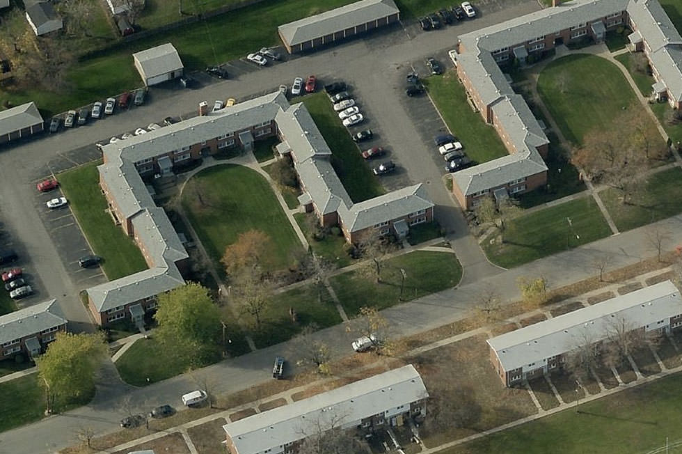 Aerial Riverview Manor Apartments Tonawanda